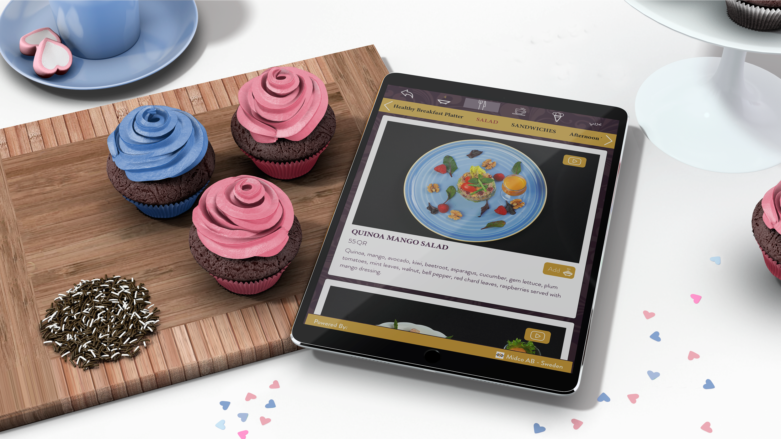 Menu 5in1 On Tablet